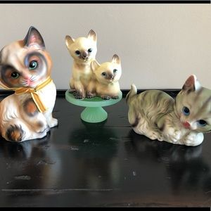 Mid century made in Japan kitty bundle